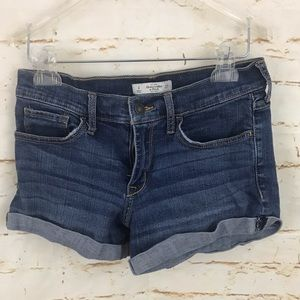 Abercrombie Fitch 4/27 jean shorts cuffed euc